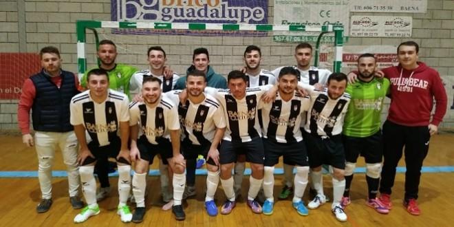 Plantilla y cuerpo técnico del Atlético Baenense FS.