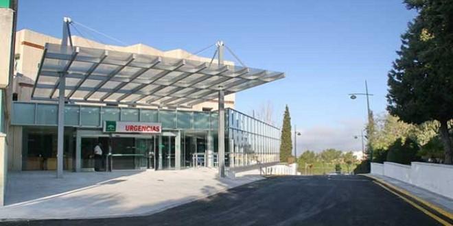 Acceso a Urgencias del Hospital 'Infanta Margarita' de Cabra. Foto de archivo.