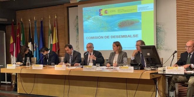 Reunión de la Comisión de Desembalse de la CHG, celebrada en Sevilla.