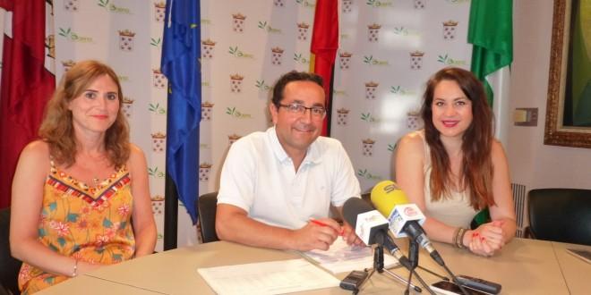 Representantes del grupo municipal del PSOE en una imagen de archivo. Foto: TV Baena.
