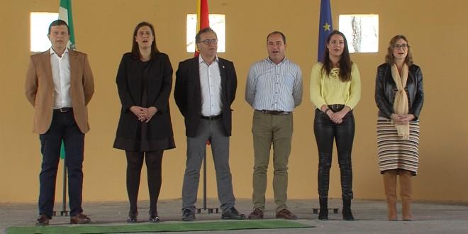 Representantes de la Corporación Municipal en el acto institucional por el Día de Andalucía.