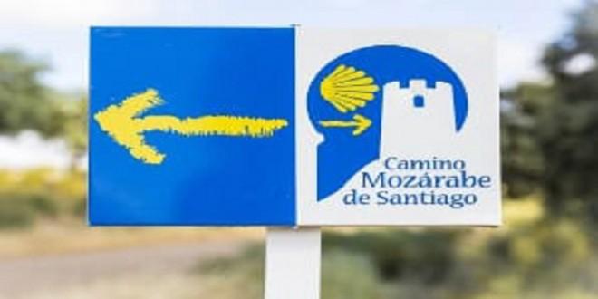 Señalización del 'Camino Mozárabe' a Santiago de Compostela. Foto: Diputación de Córdoba