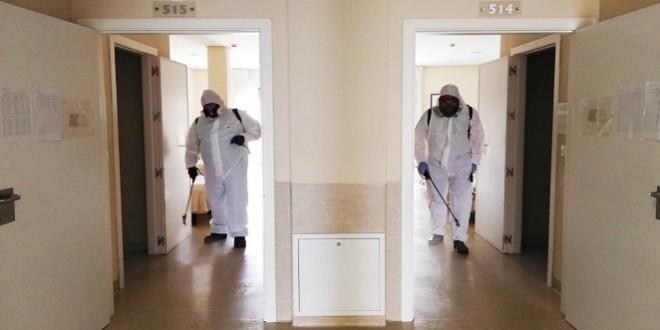 Desinfección en una residencia de mayores de Baena.