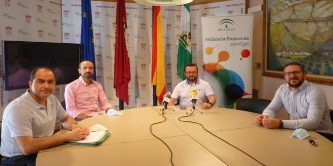 Presentación esta mañana en el Ayuntamiento de la web www.aforabaena.com