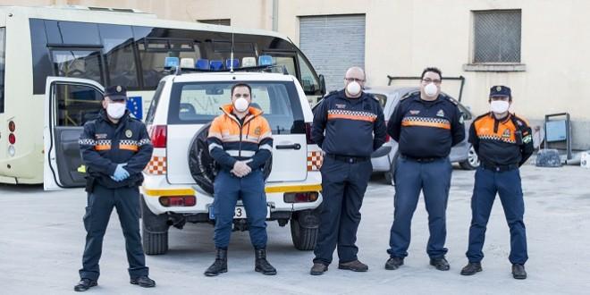 Voluntarios de la agrupación de Protección Civil de Baena. Foto: Ayuntamiento de Baena.