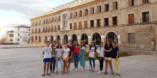 Jóvenes de la comarca que el pasado verano viajaron a Noruega en un intercambio organizado por el Europe Direct de Adegua.