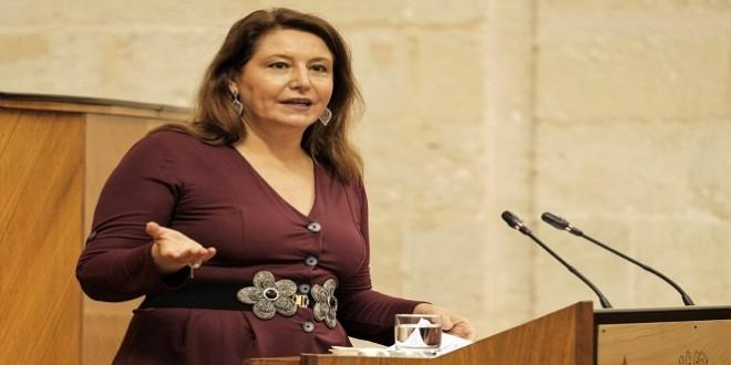 Carmen Crespo, en su comparecencia de ayer en el Parlamento andaluz. Foto: Junta de Andalucía.