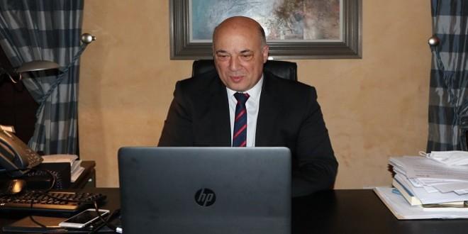 El presidente de la Diputación de Córdoba, Antonio Ruiz, durante su participación en este encuentro digital. Foto: Diputación de Córdoba.