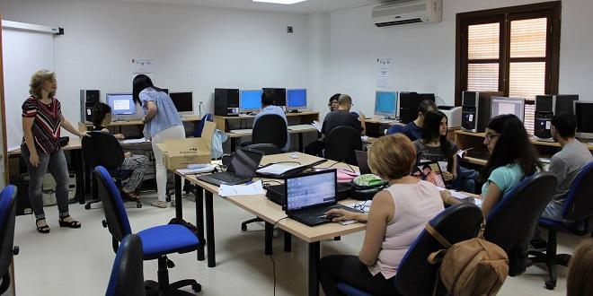Imagen de archivo de un curso de FPE impartido en Baena. Foto: TV Baena.