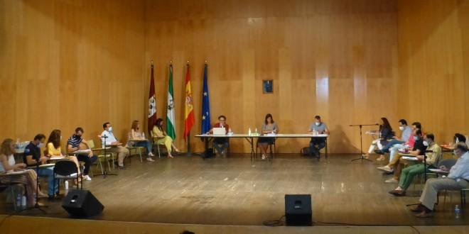 Pleno Ordinario del Ayuntamiento de Baena celebrado ayer en el Teatro Liceo. Foto: TV Baena.