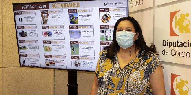 Dolores Amo, presidenta de Iprodeco, ayer en la presentación de Intercaza 2020. foto: Diputación de Córdoba.