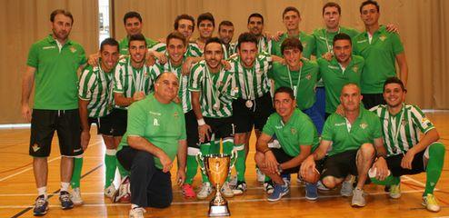 El Real Betis Futsal se proclamó campeón de la Copa de Andalucía 2013 disputada en el pabellón 'Juan Carlos I'. Foto: TV Baena.
