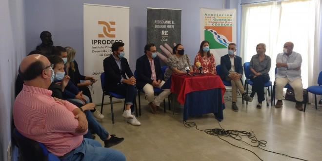 Rueda de prensa para la exposición de conclusiones de la tercera edición de Think Than Repueblo celebrada en Baena. Foto: TV Baena.