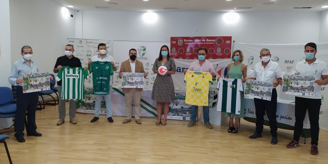 Presentación de la XIV Copa de Andalucía de fútbol sala en la Biblioteca Municipal. Foto: TV Baena.