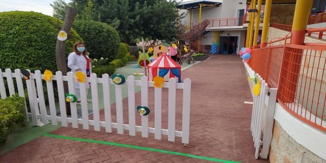 Inicio del curso escolar 2020_21 en la Escuela Infantil 'El Tiovivo'. Foto: TV Baena.