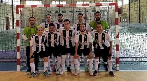 Plantilla del Atlético Baenense FS, este sábado, en el pabellón de Mancha Real.