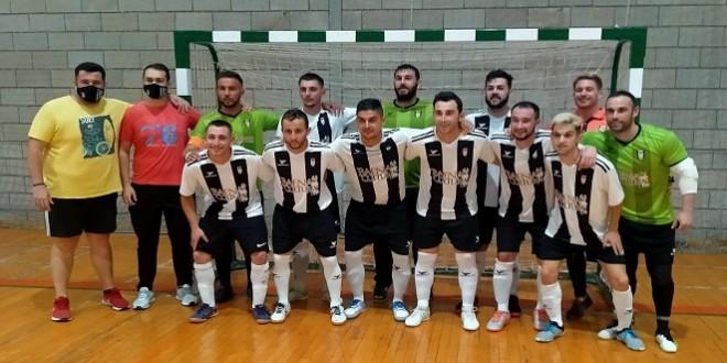 Plantilla del Atlético Baenense FS que se enfrentó este pasado sábado al CD Bujalance en el pabellón 'Juan Carlos I'.