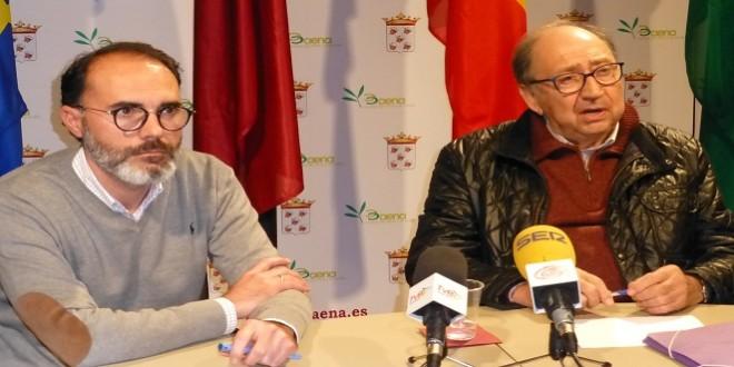 Los concejales de IPORBA, Alfonso Rojano y Luis Moreno, en una imagen de archivo. Foto: TV Baena.