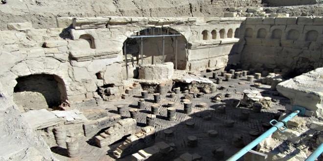 Termas orientales del yacimiento arqueológico de Torreparedones. Foto: TV Baena.